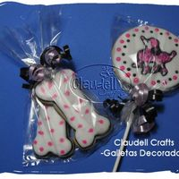 Pink Poodle Cookie I made this sugar cookies and decorated with royal icing.I hope you like it. Thanks!Claudell