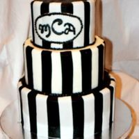 Black And White 3 Tier Cake black and white fondant cake