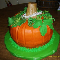 Pumpkin Cake Cake I made for my SIL's household shower. Thanks to AngelaM for the inspiration and advice.