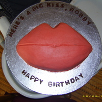 Kiss Cake Hubby said all he wanted was a big kiss for his birthday!