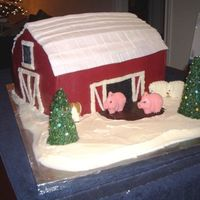 Christmas On The Farm My sister is president of her sons FFA (Future Farmers of America) Booster club, and she asked us to develop a Farm / Christmas themed cake...