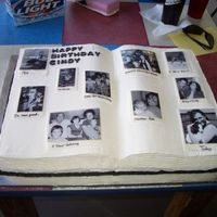 This Is Your Life - Scrapbook  My first posting to the board. We made this cake for my sister's Black & White themed 40th birthday. She is very involved in scrap...