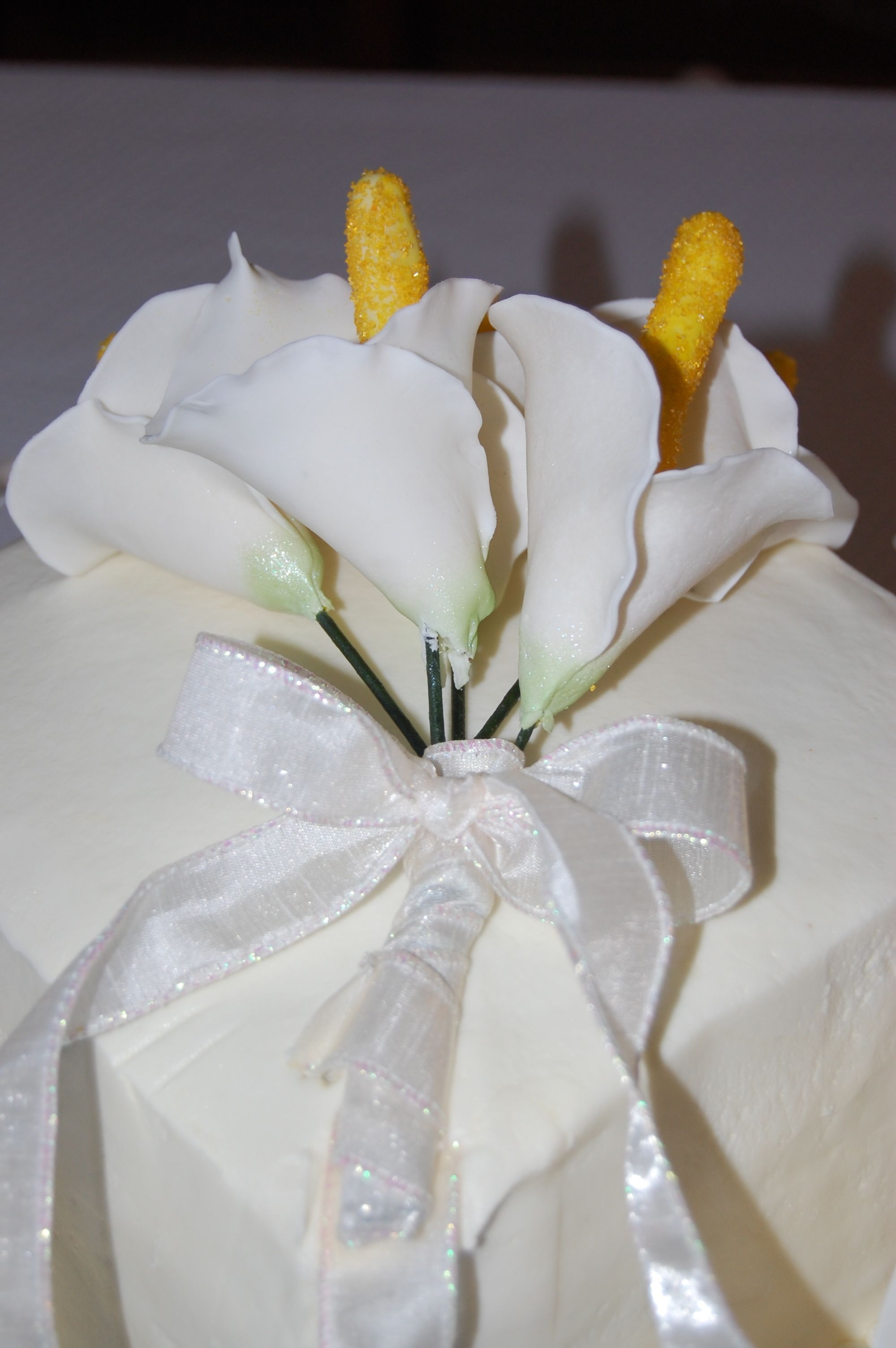 Calla Lillies And Ribbon