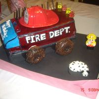 Fire Truck omg! this was my challege. but it was my sons b-day. i know it didnt turn out great, but i tried. hope everyone likes it
