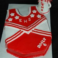 High School Musical Cheerleader   Got some ideas for this cake from this site. Accents and megaphoneare fondant. Thanks for looking!