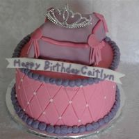 Princess Pillow  I made this cake for a 4 year old for her tea party. Tiara is a child's hairpieceand pillow is covered in fondant and brushed with...