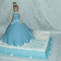 Cinderella And Tiara   Cinderella is made from the wonder mold and tiara is royal icing and thenpainted with luster dust - pearl color if I remember correctly.
