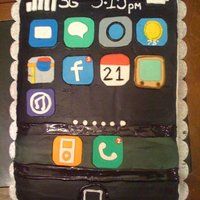 Iphone Cake The calendar represent the 21st birthday, and the time represent the birthdate March 15th