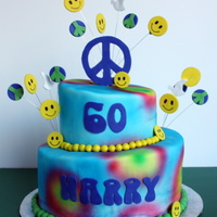 60's Themed Cake   Topsy turvy 60's themed cake inspired by one of the CC members...mine didn't turn out as nice. TFL