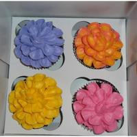 Flower Cupcakes Cupcakes for my daughters favorite staff members at school. I used Buttercream Dream for the first time and LOVED IT!!!!