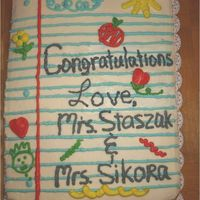 Preschool Graduation Cake I made (2) of these cakes for my daughters preschool graduation. It is a WASCMarble cake decorated in buttercream. I was very disappointed...