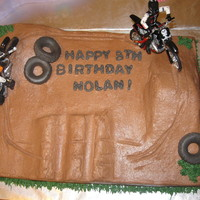 Dirt Bike Cake   Simple cake... not much you can do with a dirt bike cake.