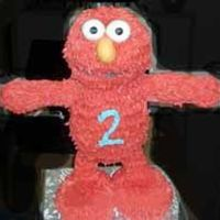 Elmo   made for my son's 2nd birthday! what a support system that cake needed!!