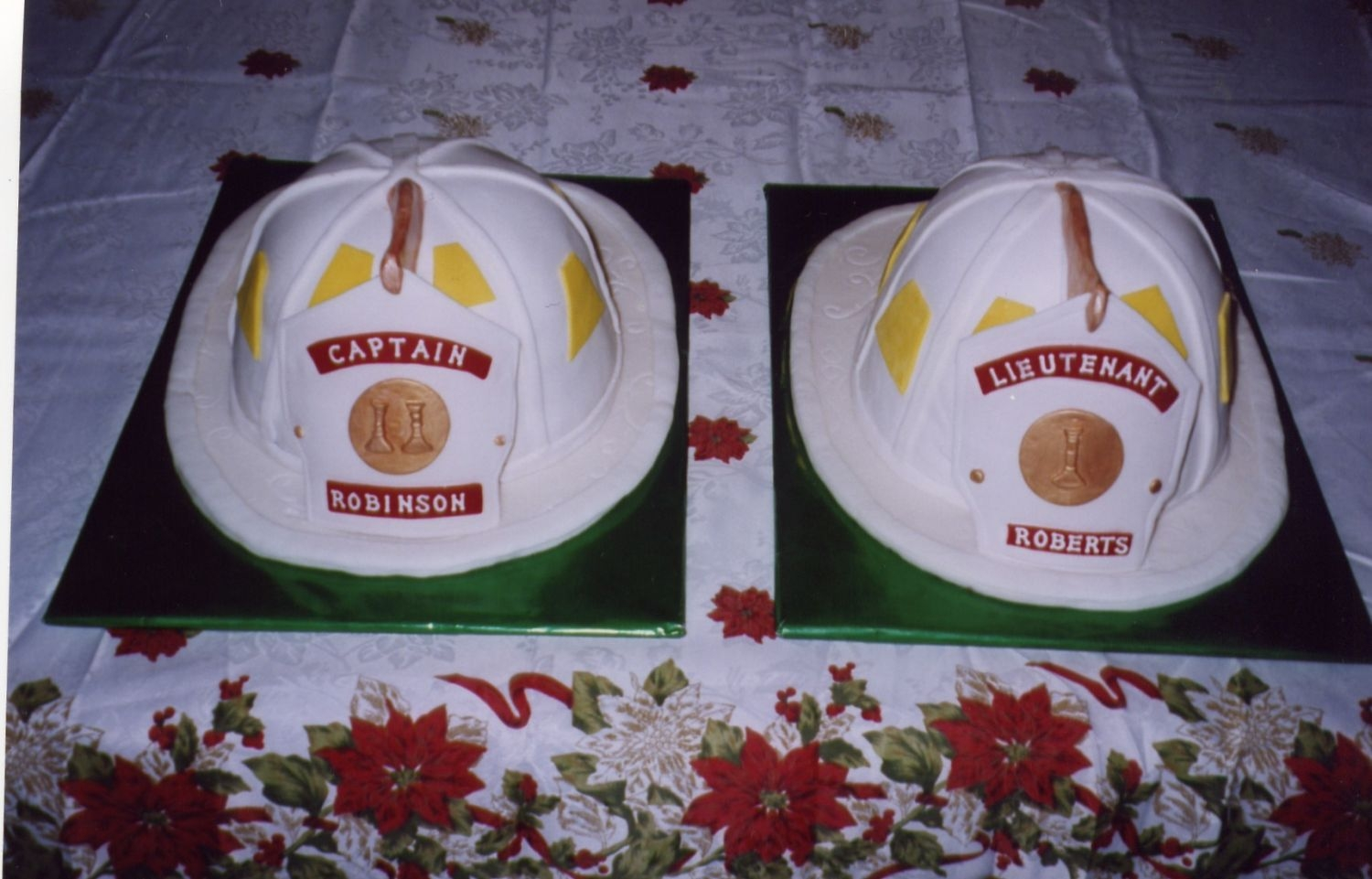 Fire Helmet Cakes   Made for a promotional party. Thanks everyone for all your help!!!