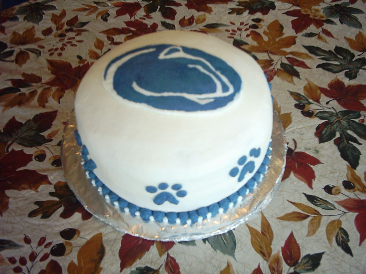 Penn State Cake   My first attempt for a FBCT.
