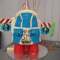 Buzz Lightyear Rocket Ship I made this cake for my son's 4th b-day and he loved it. Hard to transport, almost lost it!