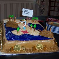 Pirate Treasure Cake This was for my son's 5th birthday party in September. We had a pirate party for him and his classmates.