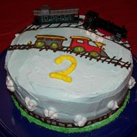 Train Cake Train Cake I made for my niece. Inspired by cakes I saw here. My first attempt at the transfer, so it's not the best.