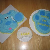 Blues Clues this was a 3 cake job and they all turned out perfect...