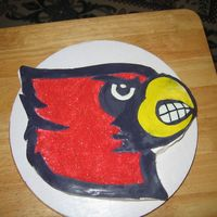 Louisville Cardinals I made this for my friends Bday, she is a HUGE Louisville Cardinals fan