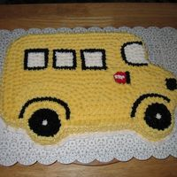 School Bus I work for school corp, so I did this for fun, and to show the ladies at work they had another option for cakes instead of buying from...