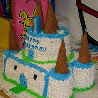 Castle Cake This was for my nephew's 1st birthday party!