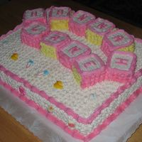 Baby Block Cake   This was a word of mouth order! Gotta love those, and the recipient loved ti!