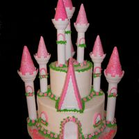 Princess Castle Cake My first ever castle cake. I blew out my knee this week & had a really rough time putting this together. I can't walk & am on...