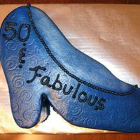High Heel Shoe I did one similar to this previously in pink & black. This was for a surprise 50th birthday party. I airbrushed this with two different...