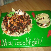 Nachos And Tacos Nachos and tacos for a mexican themed party. Saw this here on CC had a lot of fun making! Chocolate cake with choc. buttercream, then...