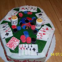 "Poker Table Birthday Cake I attempted to recreate what I saw ""auntiecake"" do. Mine didn't quite turn out as good. Anyway, the birthday boy turned 30..."