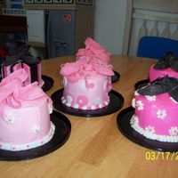 Mini Ballet Cakes These were done as thank you gifts for my daugthers' ballet teachers. One is in ballet (pink) and the other is in hip hop (black). I...
