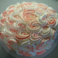Rosette Cake I have seen lots of these on Cake Central and was dying to try one. I wish everyone would ask for these! It takes NO time to do one and the...