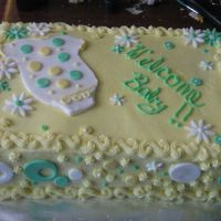 Baby Shower My cousin found a cake with this design here on CC, however I'm not sure who it was so can't credit the design. Thank you though...