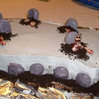 Zombie Cake The wide view, of the cake I made for my friend who just loves zombies!
