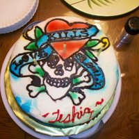 Ed Hardy Bday Cake All BC icing. Ed Hardy's Love Kills Slowly