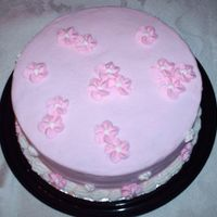 Pink Flower Cake the drop flower cake from wilton 1