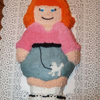 Poodle Skirt Girl   I made this cake for my birthday. I saw it in a Wilton yearbook & thought she was so cute!