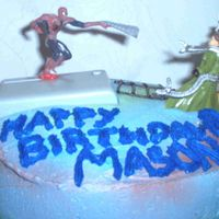 Spidey Vs. Doc Oct I made this cake for my son's bowling party also. I had bought the cake topper before we decided to have a bowling party. It was...
