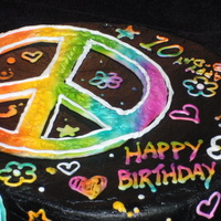 "Neon Doodle Matches party plates ""Neon Doodle"". All buttercream, airbrushed."