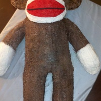 Sock Monkey All buttercream with fondant eyes