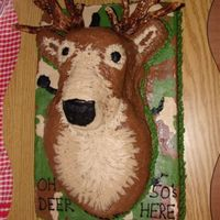 Deer Head Cake I made this cake for my brothers 50th birthday. It was dark chocolate with chocolate buttercream dream frosting. He was thrilled with the...
