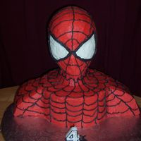 Spiderman Birthday Cake This is my little boys cake for his 4th birthday. Thanks to everyone on CC for their ideas and different versions.