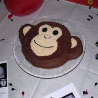 Tucker's 1St Birthday Monkey cake, Wilton Animal Character pan