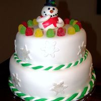 Snowman I did this cake for a school raffle at my son's school.