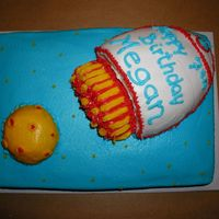 Rocket From Moon My friends daughter wanted a yellow moon with a rocket. I was inspired by a couple of cakes on cc. by: Nancyap's rocket to the moon...