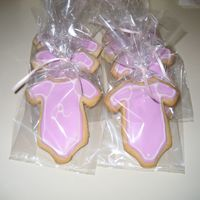 Onesie Cookies   Onesie cookies for baby shower made with NFSC recipe and royal icing...