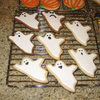 Ghosts!   ghost NFSC with royal icing... they make me smile! :)