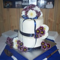 My Very First Wedding Cake I did this for a friend. She and her husband were having a small wedding and weren't going to bother with a cake. So i offered to do...