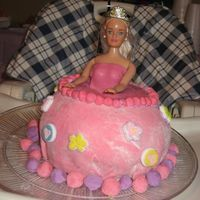 Barbie   MY FIRST TRY AT MAKING MY DAUGHTER'S 2ND B~DAY CAKE FOR HER VERY OWN.